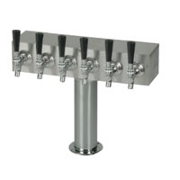 Brushed Stainless Steel Air Cooled 6 Faucet T-Tower
