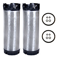Set of 2 - Reconditioned  5 Gallon Pin Lock Kegs