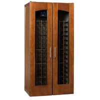 Le Cache Contemporary Series Model 2400 Wine Cellar - 286-Bottle Capacity, Provincial Cherry Finish