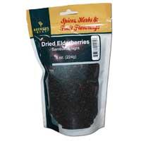 Dried Elder-Berries - 8 oz