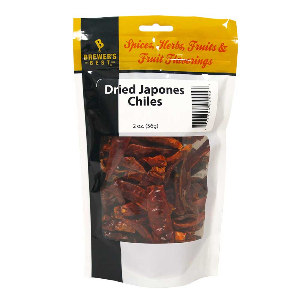 Dried Japones Chiles - 2 oz