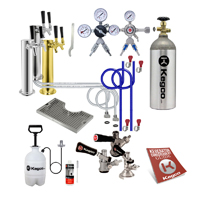 Custom Dual Tap Tower Kegerator Conversion Kit