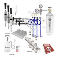 Premium Triple Tap Door Mount Guinness Kegerator Conversion Kit