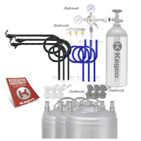 Standard Triple Faucet Party Homebrew Kegerator Conversion Kit