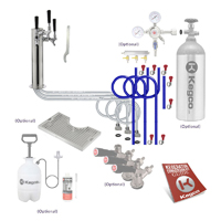Premium Triple Tap Tower Kegerator Conversion Kit