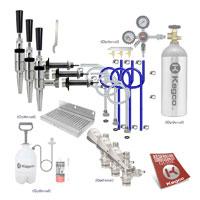 Ultimate Triple Tap Door Mount Guinness Kegerator Conversion Kit