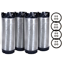 Set of 4 - Reconditioned  5 Gallon Pin Lock Kegs