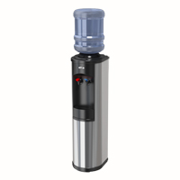 Stainless Steel Hot 'N Cold Water Cooler w/WTG