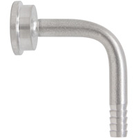 3/16 Inch ID Beer Line Brass Bent Tailpiece
