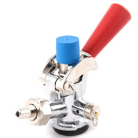 D System Keg Coupler - Red Handle