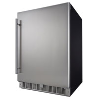 Inventory Clearance - Silhouette DAR055D1BSSPR Professional Niagara 5.5 Cu. Ft. Built-In Refrigerator - Black Cabinet with Stainless Steel Door