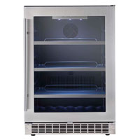 Danby DWC612BLP 75-Bottle Wine Refrigerator with Platinum Door Trim