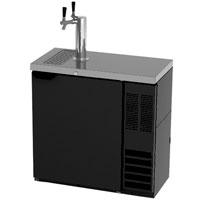Beverage Air Dual Tap Faucet Slim Black Kegerator Keg Beer Dispenser