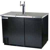 Beverage Air Two Dual Keg Commercial Beer Cooler - Black Vinyl
