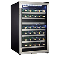 Danby Silhouette DWC283BLS 30-Bottle Dual Zone Wine Cooler - Stainless Steel Glass Door