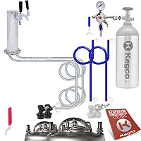 Economy Homebrew Two Tap Faucet Draft Tower DIY Kegerator Conversion Kit