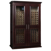 European Country Euro 3800 458-Bottle Wine Cellar - Chocolate Cherry Finish
