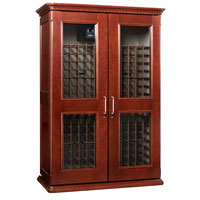 European Country Euro 3800 458-Bottle Wine Cellar - Classic Cherry Finish