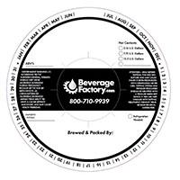 Beverage Factory Generic Keg Collar - Black and White