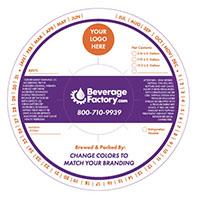 Beverage Factory Custom Keg Collar - Full Color - Set of 50
