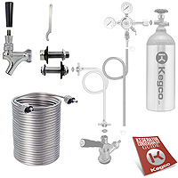 Kegco Build Your Own 70' Jockey Box Coil Tight Wrap Single Faucet For Small Coolers