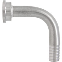 3/8 Inch ID Beer Line Brass Bent Tailpiece