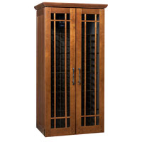 Mission 2400 286 -Bottle Wine Cabinet - Provincial Cherry Finish