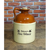 CUSTOMIZE - Personalized 'Fire Water' Label Moonshine Jug