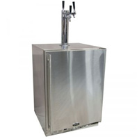 Marvel Outdoor Kegerator Cabinet with X-CLUSIVE 3 Faucet Home Brew Keg Tapping Kit