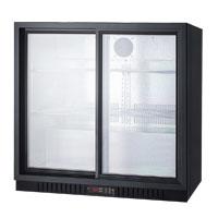 7.4 cf Commercial Beverage Cooler w/Sliding Glass Doors