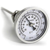 Scratch & Dent - Pro Flow THER-050-6-SS Dial Thermometer for Brew Kettles
