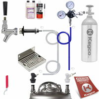 Ultimate Door Mount Home Brew DIY Kegerator Keg Tap Conversion Kit