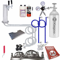 Ultimate Home Brew Two Keg Tap Faucet Tower DIY Kegerator Conversion Kit
