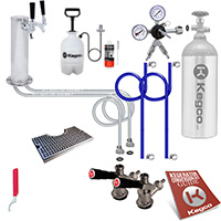 Ultimate Two Faucet Tower DIY Kegerator Conversion Kit