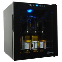 Vinotemp VT-188-BBW 160-Bottle Dual Zone Wine Refrigerator in Black