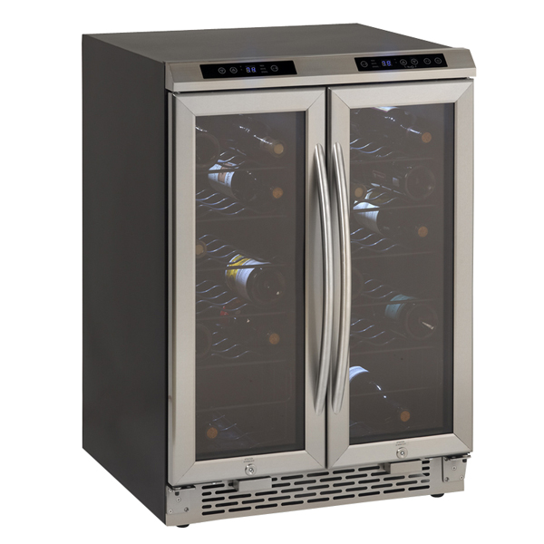 Side-by-Side Dual Zone Wine Chiller 38-Bottle