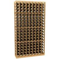 9 Column Wood Wine Rack