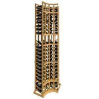8' Curved Corner Display Wood Wine Rack