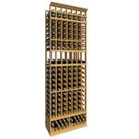 8' Seven Column Display Wood Wine Rack