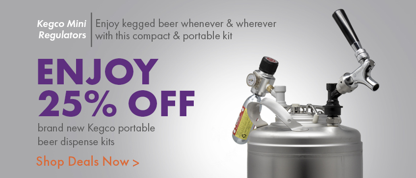 25% off brand new parable beer dispense kits