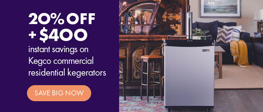 20% Off + $400 Instant Savings Kegco Z Series Commercial/Residential Kegerators