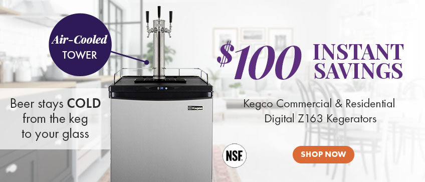 Save over $650 on Kegco Z Series Commercial/Residential Kegerators