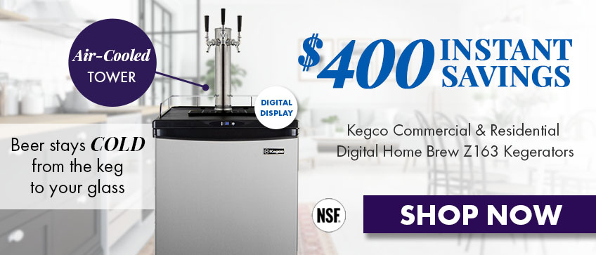 Save up to $400 on Kegco Z Series Commercial/Residential Kegerators