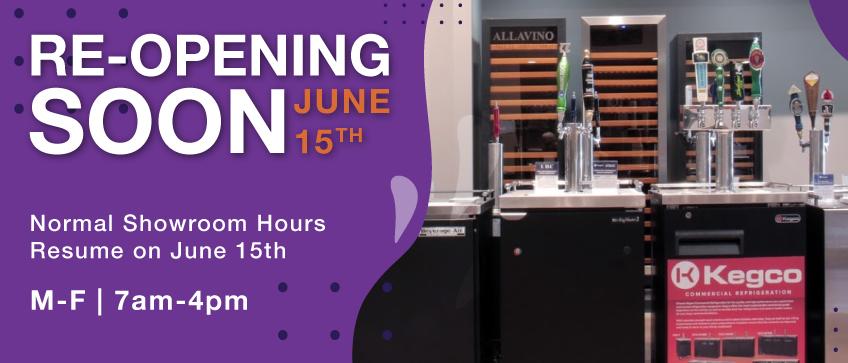 Showroom Reopening June 15th!