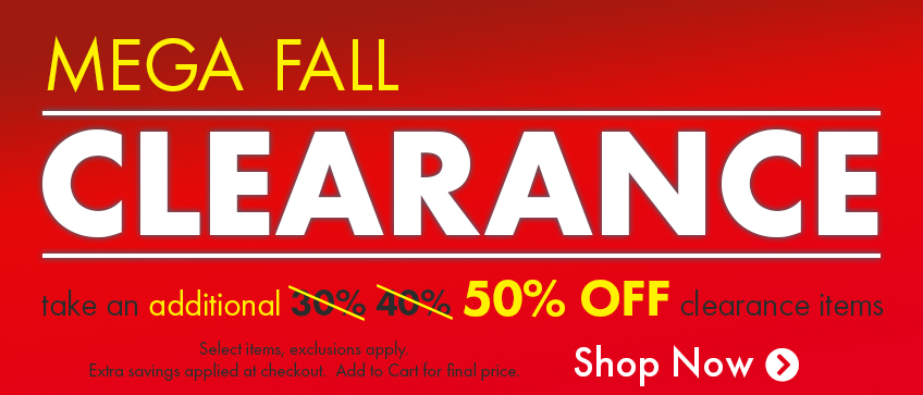 Clearance - Take an additional 40% off