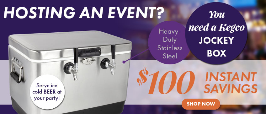 Save $100 on Kegco Jockey Box