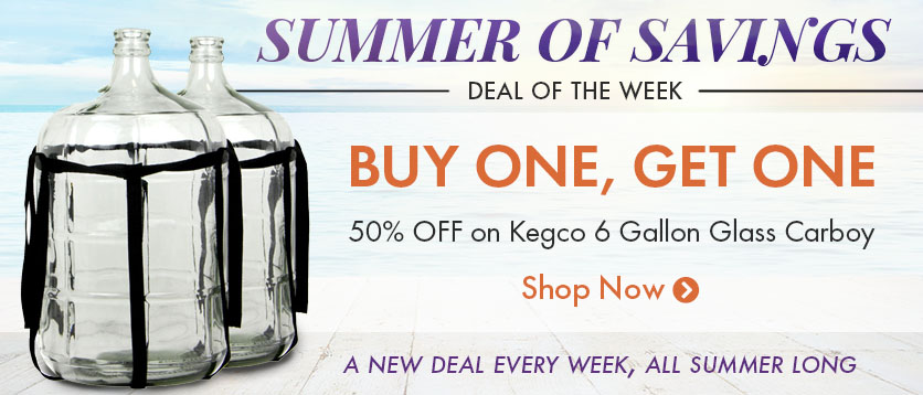 Buy One Get One 50% Off Carboys
