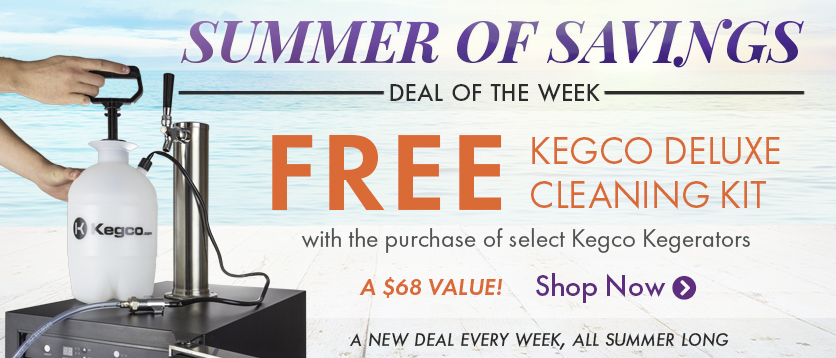 Free Kegco Deluxe Cleaning Kit with Purchase of a Kegco Kegerator