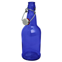 EZ Cap 500ml Flip-Top Home Brew Beer Bottles - Blue (Case of 12)