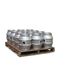 Pallet of 12 Brand New 5.4 Gallon Pin Beer Keg Casks